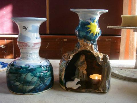 Декоративные керамические светильники